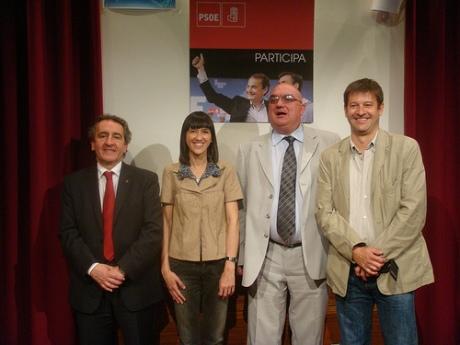 Bartumeu, Parlon, Blach y Moreno en el acto organizado por PSOE Andorra